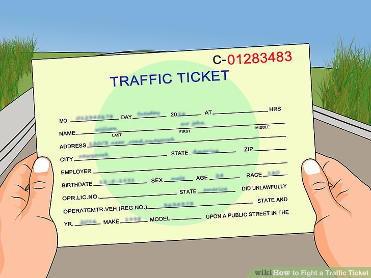 Las Vegas traffic ticket